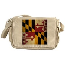 Grunge Maryland Flag Messenger Bag