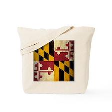 Grunge Maryland Flag Tote Bag