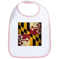 Grunge Maryland Flag Bib