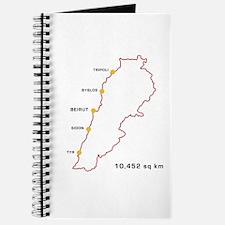Lebanon Map 10,452 sq km Journal