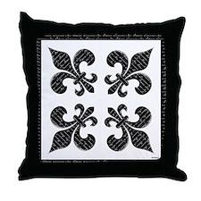 Calligraphy Fleur de lis Throw Pillow