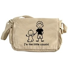 Little Cousin - Stick Figures Messenger Bag