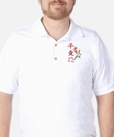 Peace, Love, and Flowers Golf Shirt