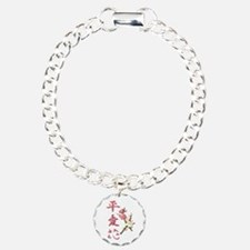 Peace, Love, and Flowers Bracelet