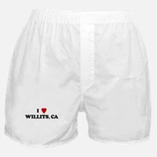 I Love WILLITS Boxer Shorts