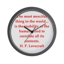 lovecraft9.png Wall Clock