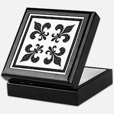 Calligraphy Fleur de lis Keepsake Box