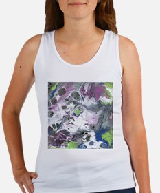 Purple and Green Abstract Tank Top