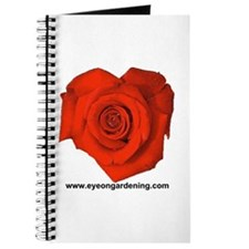 Red Heart Shaped Rose Journal
