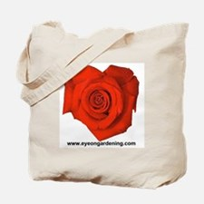 Red Heart Shaped Rose Tote Bag