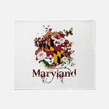 Butterflies Maryland Throw Blanket