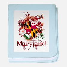 Butterflies Maryland baby blanket