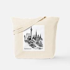 Vintage Baltimore Monument Square Tote Bag