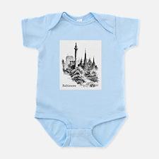 Vintage Baltimore Monument Square Infant Bodysuit