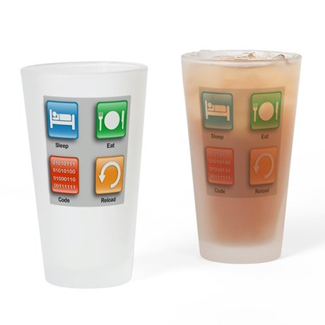 The Code Monkey's Guide Drinking Glass