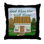 'God Bless Our Irish Home' Throw Pillow