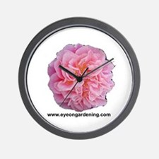 Pink Rose Club Wall Clock