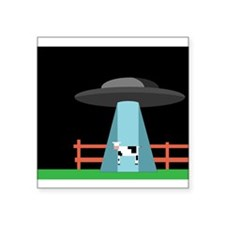 "UFO Square Sticker 3"" x 3"""