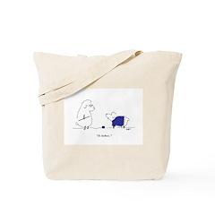 Itchy Lamb Knitting Tote Bag