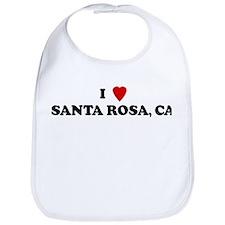 I Love SANTA ROSA Bib