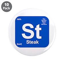 """St (Steak) Element 3.5"""" Button (10 pack)"""