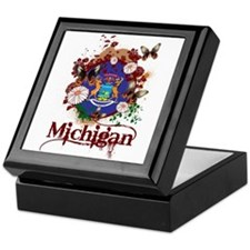 Butterflies Michigan Keepsake Box