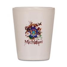 Butterflies Michigan Shot Glass