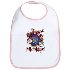 Butterflies Michigan Bib