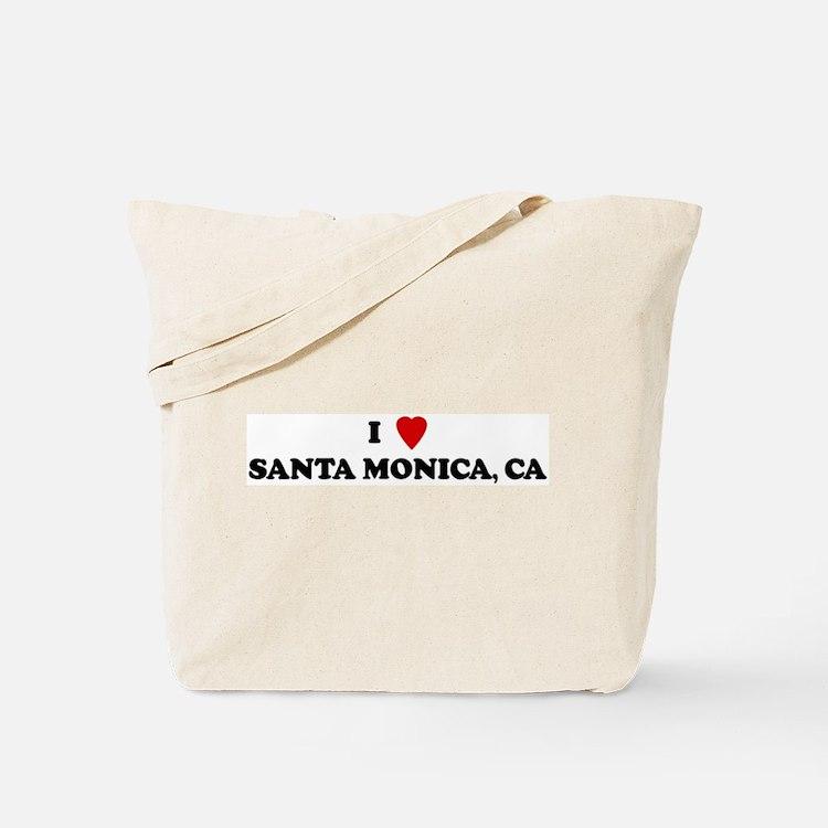 I Love SANTA MONICA Tote Bag