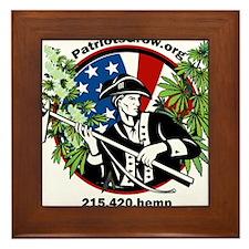 Patriots Grow! One voice Framed Tile