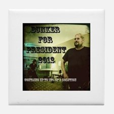 Bunker For President 2012 Tile Coaster