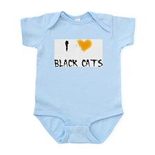 I Love Black Cats Infant Creeper