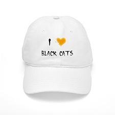 I Love Black Cats Baseball Cap