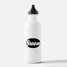 OVAL GROOM (BLK) Water Bottle