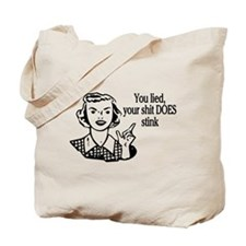 Shit Does Stink Retro Tote Bag