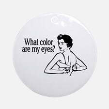 Eye Color Retro Ornament (Round)