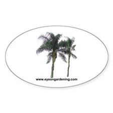 Palm Trees Oval Decal