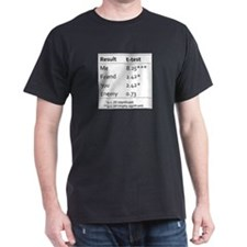 T Test Table of Statistical Significance T-Shirt