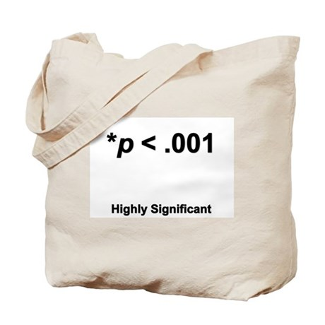 statistically significant bag tote