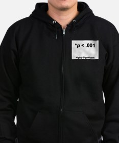 Highly statistically significant at p < .001 Zip Hoodie