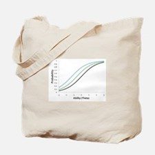 Item Response Theory and Logistic Curve Tote Bag