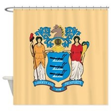 New Jersey Flag Shower Curtain