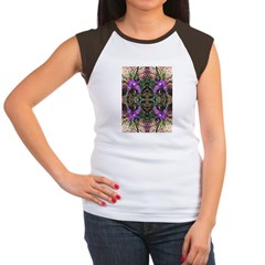 Pacific Iris Reflection Women's Cap Sleeve T-Shirt