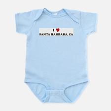 I Love SANTA BARBARA Infant Creeper