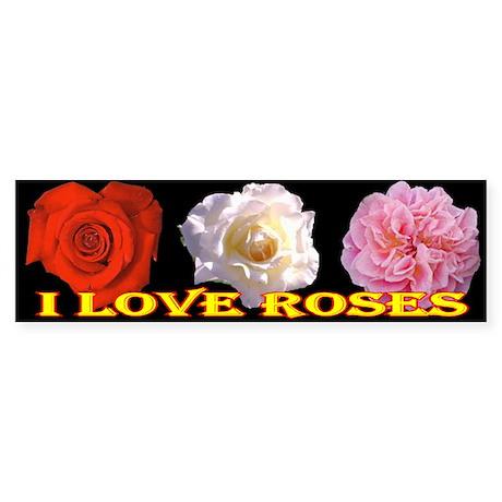 I Love Roses Bumper Sticker