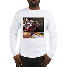 Claude Monet Flowers And Fruits Long Sleeve T-Shir