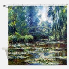 Monet Bridge Over Water Lily Pond Shower Curtain