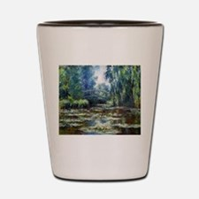 Monet Bridge Over Water Lily Pond Shot Glass