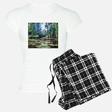 Monet Bridge Over Water Lily Pond Pajamas