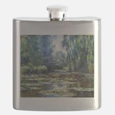 Monet Bridge Over Water Lily Pond Flask